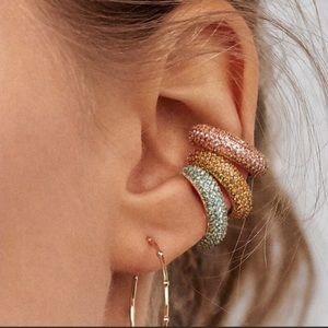 NWOT Anthro BaubleBar Orange Crystal Clip earrings